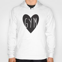 gym Hoodies featuring gym  by design make create
