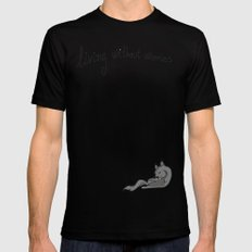 this is a good life MEDIUM Mens Fitted Tee Black