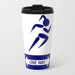 Funny Blue One Way Singn Travel Mug