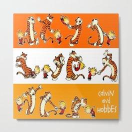 calvin and hobbes funny Metal Print