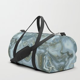 Precious Teal Blue Gemstone Agate Collage Duffle Bag
