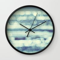 blur Wall Clocks featuring blur by Bonnie Jakobsen-Martin
