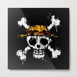Skull - Pirates Metal Print