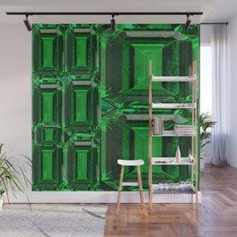 SPRING GREEN EMERALDS ART DECORATIVE  DESIGN Wall Mural