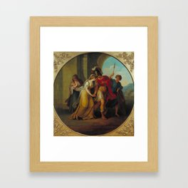Manner of Angelica Kauffman , Hector Taking Leave of Andromache Framed Art Print