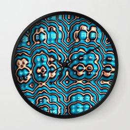 Bits and Blobs - Fractal Art Wall Clock