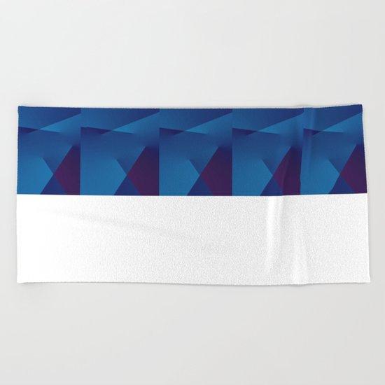 Abstract Geometric QQ Beach Towel
