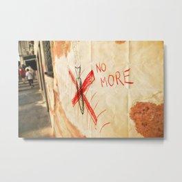 no more! _ ban the bomb! Metal Print