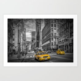 MANHATTAN 5th Avenue Art Print