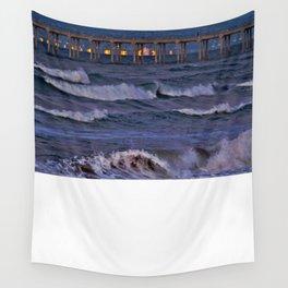 Christmas Moonset Huntington Beach Pier  12/25/15 Wall Tapestry