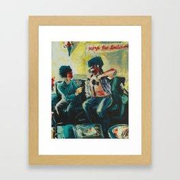 Rock Star and Fan  Framed Art Print