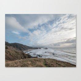 Beautiful Landscape at Ecola State Park Oregon Canvas Print