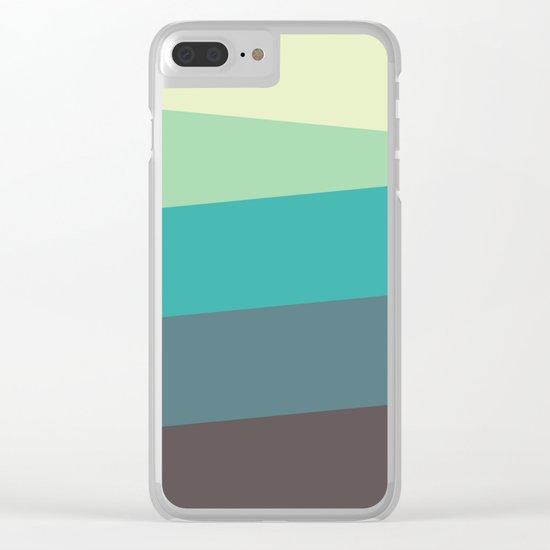 Green Tone Clear iPhone Case