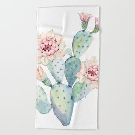 The Prettiest Cactus Beach Towel