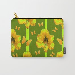 """GREEN AMARYLLIS """"FOR THE LOVE OF BUTTERFLIES"""" Carry-All Pouch"""
