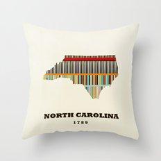 North Carolina state map modern Throw Pillow