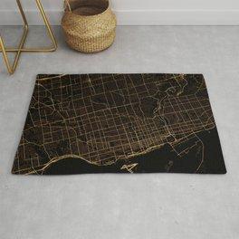 Toronto map, Canada Rug