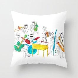 NOLA Jazz Fest 2011 Throw Pillow