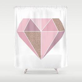 Shades of rose gold diamond Shower Curtain
