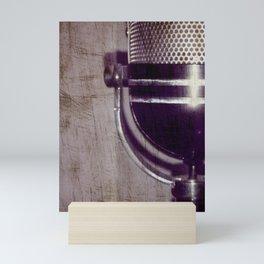 Vintage Microphone (scratched) Mini Art Print