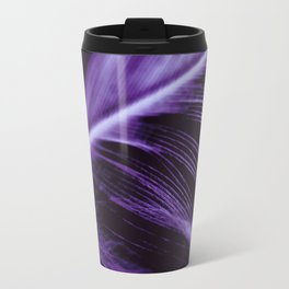 Purple Ultraviolet Feather close up Travel Mug