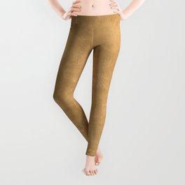 Pale Gold Oil Pastel Color Accent Leggings