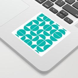 Mid Century Modern Geometric 04 Turquoise Sticker