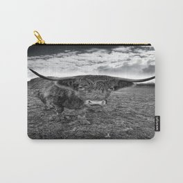 Rugged Highland Cattle Carry-All Pouch