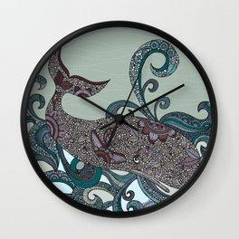 Deep Blue Me Wall Clock