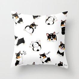 Tri Cute as Hecc Throw Pillow
