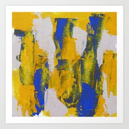 Abstract Expression #10 by Michael Moffa Art Print