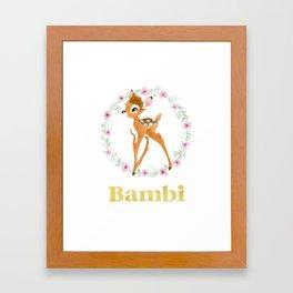Bambi - Gold Framed Art Print