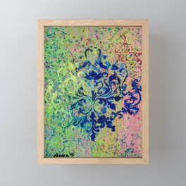Monochrome Kaleidoscope Framed Mini Art Print
