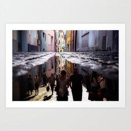 A Reflection of City Life by GEN Z Art Print