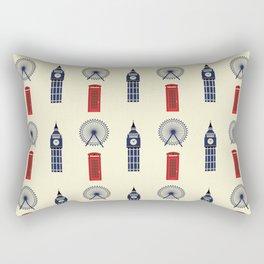 London Big Ben,Red British phone box Rectangular Pillow