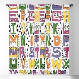 super silly abc alphabet letters Blackout Curtain