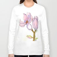 magnolia Long Sleeve T-shirts featuring Magnolia by Coffee and Pen