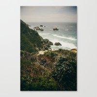 big sur Canvas Prints featuring Big Sur by Laina Brown