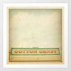 Cotton Candy Stand Art Print