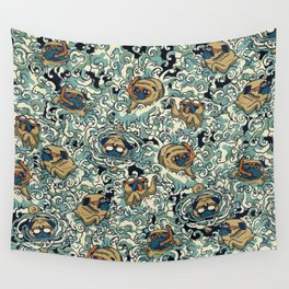 Pugs in the Pool Wall Tapestry