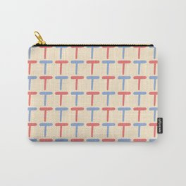 Lettering T Pattern Carry-All Pouch
