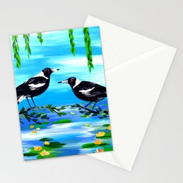 magpies and monet Stationery Cards