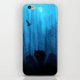 Wolf Pass: Cerulean Mist iPhone Skin