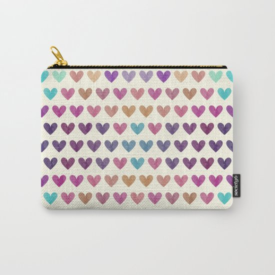 Colorful hearts III Carry-All Pouch