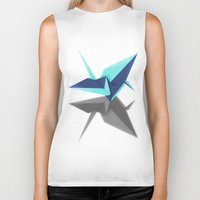 origami Biker Tanks featuring Origami by Red 99