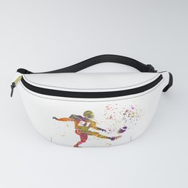 American football player in watercolor 33 Fanny Pack