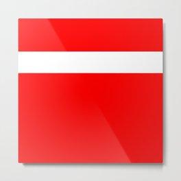 White stripe on red Metal Print