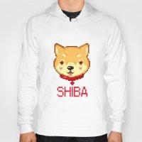 shiba inu Hoodies featuring SHIBA INU LOVE by giaj
