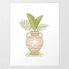 Leaves in a Vase Art Print