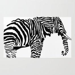 Elephant Canvas Print Rug